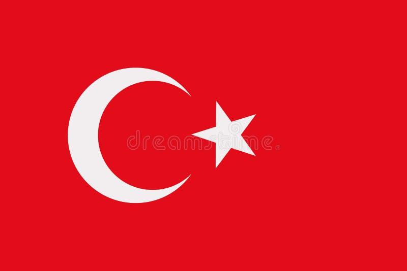 Turcja flaga wektor royalty ilustracja
