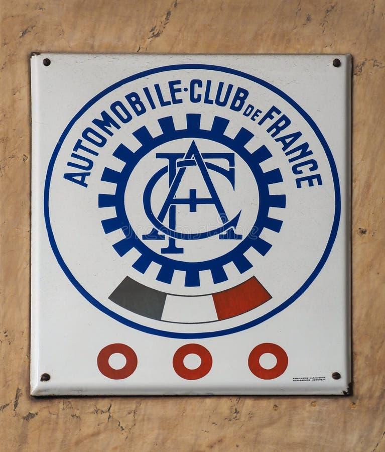 TURCJA - KTZ 2019 R.: Automobile Club de France (France Car Club) zdjęcie royalty free