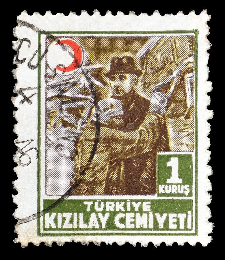 Turcja na znaczkach pocztowych fotografia royalty free