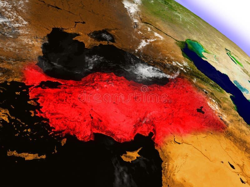 Turcja od przestrzeni podkreślającej w czerwieni ilustracji