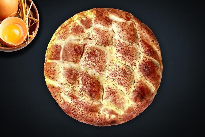 Turco do pidesi de Ramazan para o pão árabe da ramadã fotografia de stock