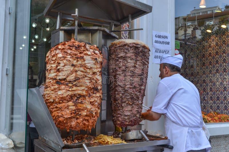 Turco Doner em Istambul Turquia foto de stock royalty free