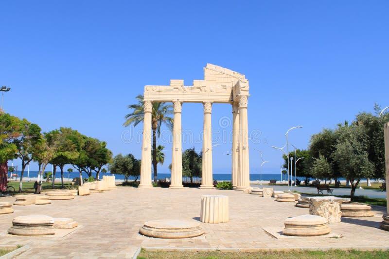 Turco, Mersin Mezitli, o 3 de junho, - 2019: Lugares turísticos, museu exterior imagem de stock royalty free