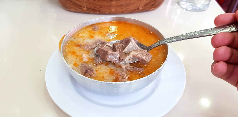 Turco tradizionale Chubby Soup immagine stock