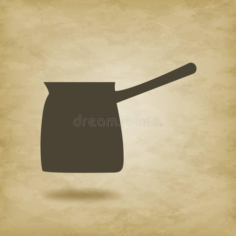 Turczynka dla kawa odosobnionego wektoru royalty ilustracja