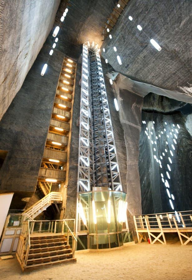 Turda的盐矿,罗马尼亚 免版税库存照片