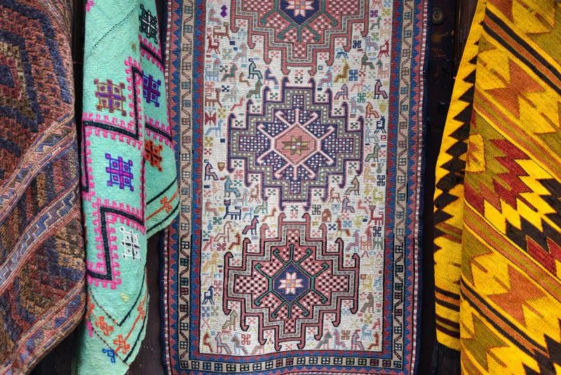 Tureccy dywaniki i dywanów szczegóły zdjęcie stock