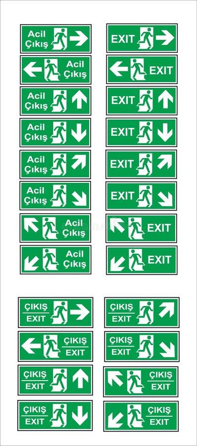 Tureccy signage modele, zagro?enie znak, zabraniaj?cy znak, okupacyjny bezpiecze?stwo i zdrowie znaki, ostrzegawczy signboard, po royalty ilustracja
