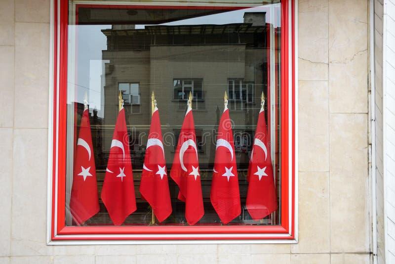 Turecczyzn flaga w Ankara obraz royalty free