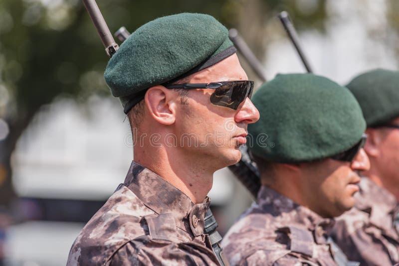 Turecczyzn specjalnych operacj milicyjny marsz dla Militarnej parady zdjęcia royalty free