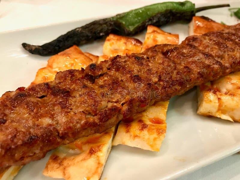 Turecczyzna Adana Kebab z Minced mi?sem Urfa Kebap obrazy royalty free