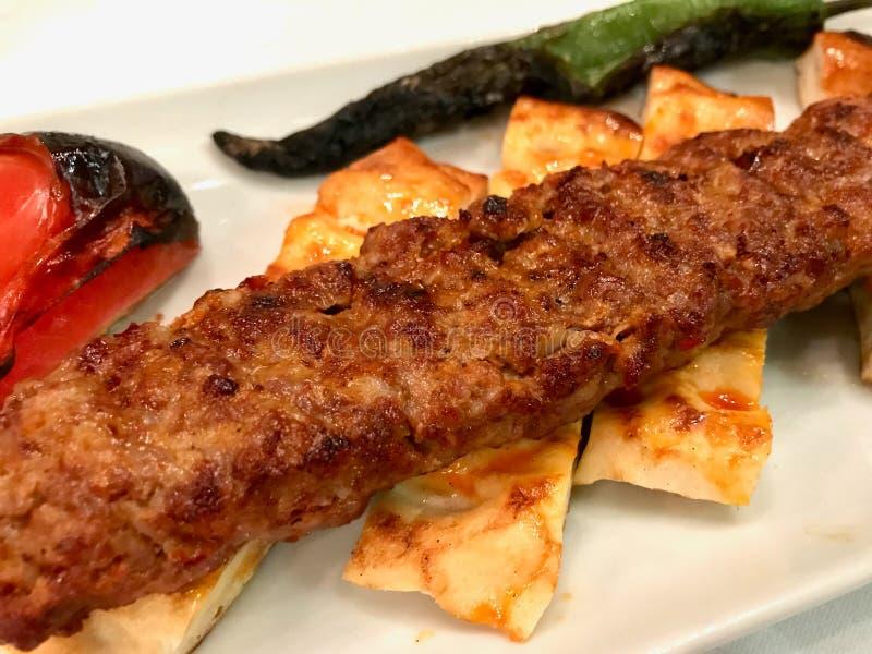 Turecczyzna Adana Kebab z Minced mi?sem Urfa Kebap obraz stock