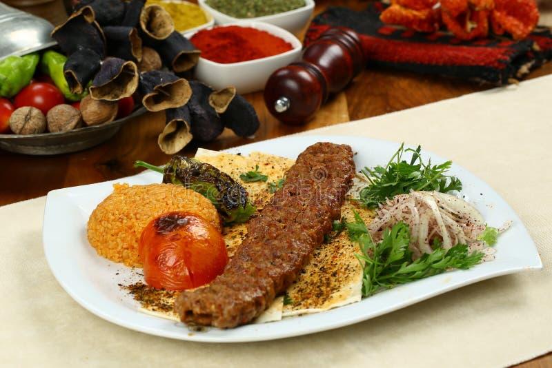 Turecczyzna Adana, Urfa - Kebab zdjęcie royalty free