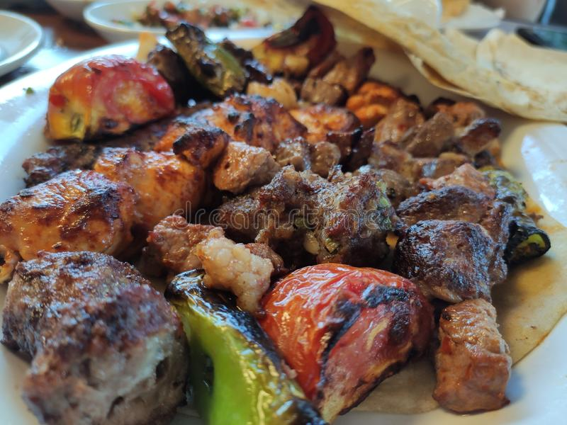 Turecczyzna Adana, Urfa - Kebab Kofta, gotujący fotografia stock