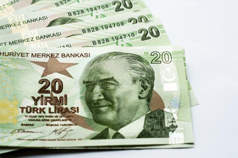 Turecczyzna papierowi banknoty fotografia stock