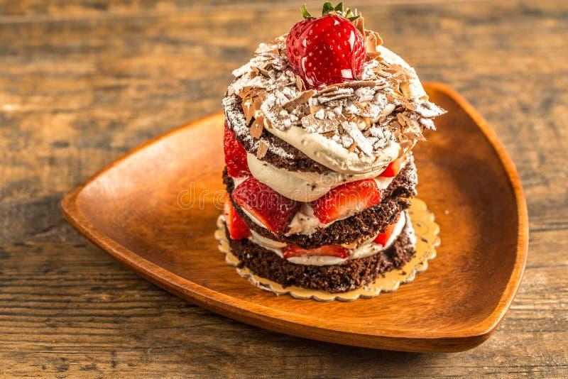 Turecczyzna tort na pucharze zdjęcie royalty free