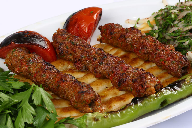 Turecczyzny Adana kebab obrazy stock