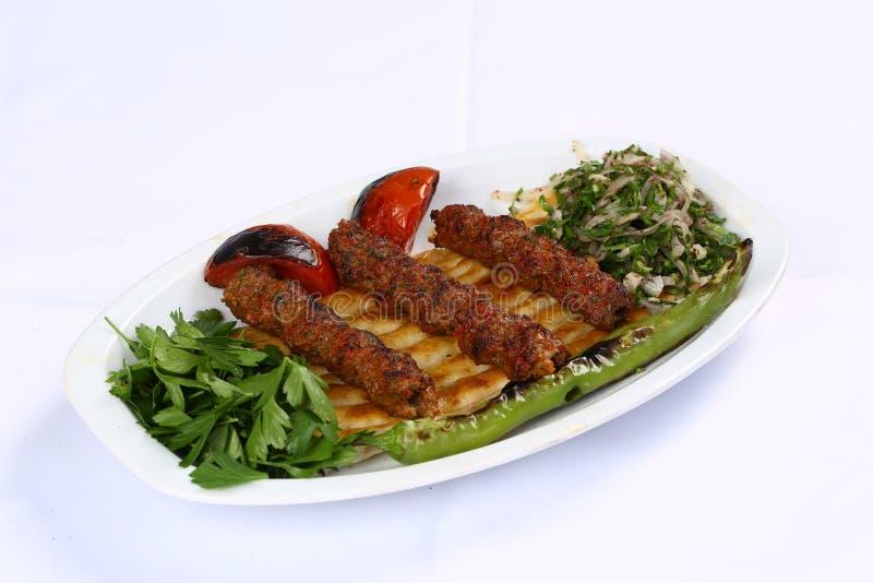 Turecczyzny Adana kebab zdjęcie stock