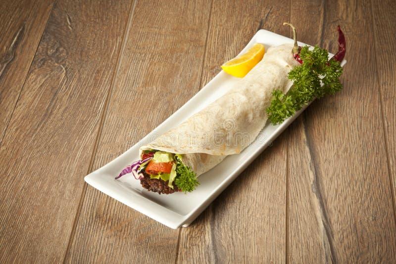 Turecczyzny Adana Kebab Durum obraz stock