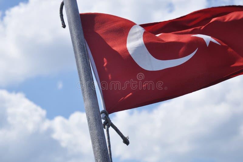 Download Turecczyzny flaga zdjęcie stock. Obraz złożonej z bariera - 53791136