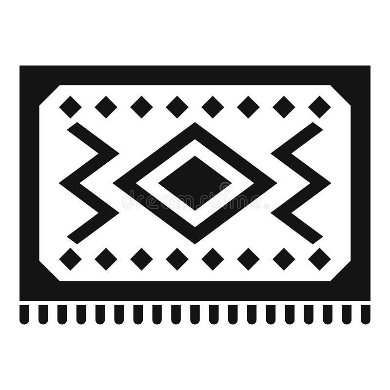 Turecka dywanowa ikona, prosty styl royalty ilustracja