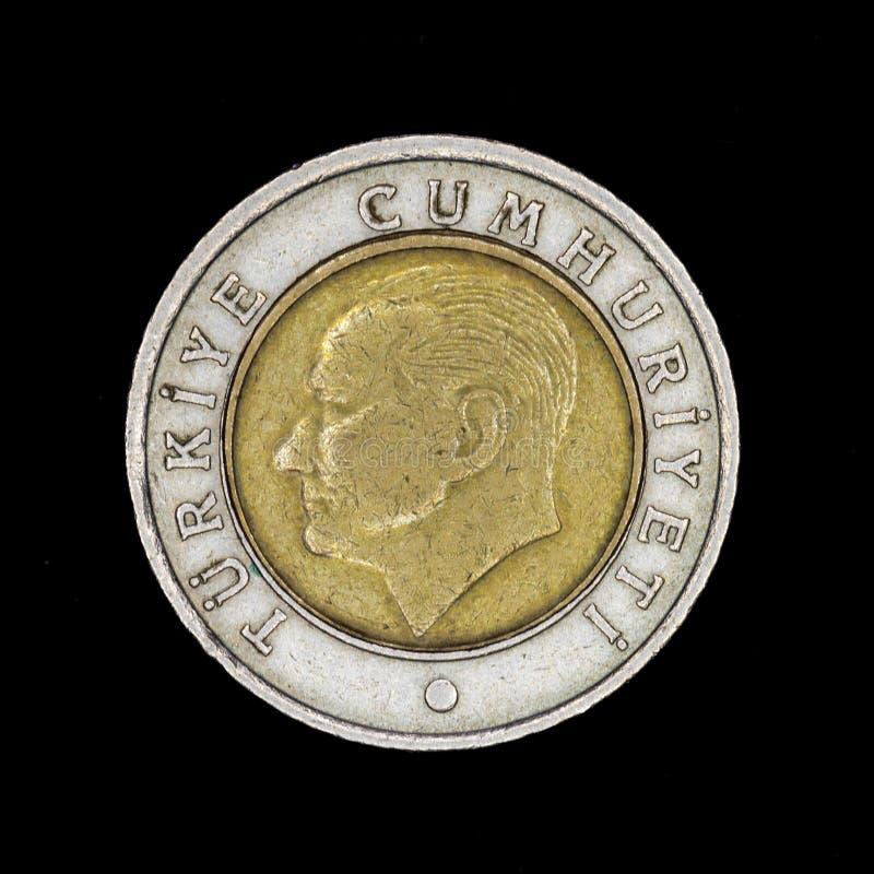 Turecka metal moneta obrazy stock