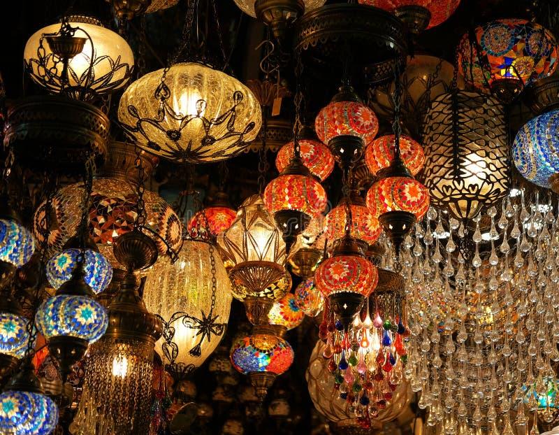Turecka mozaiki lampa zdjęcie royalty free