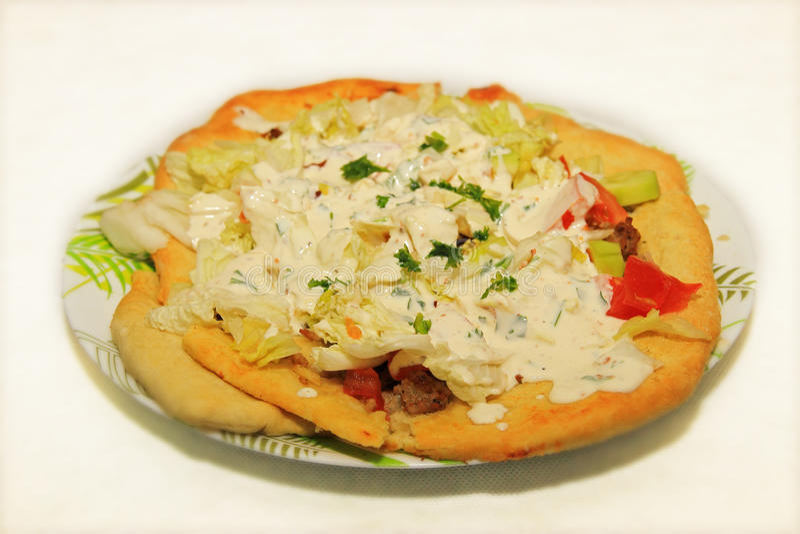 Turecka pizza Lahmacun obraz royalty free