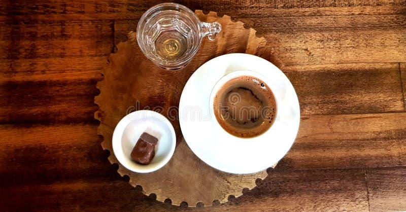 Turecka Tradycyjna kawa z zachwytem obrazy stock