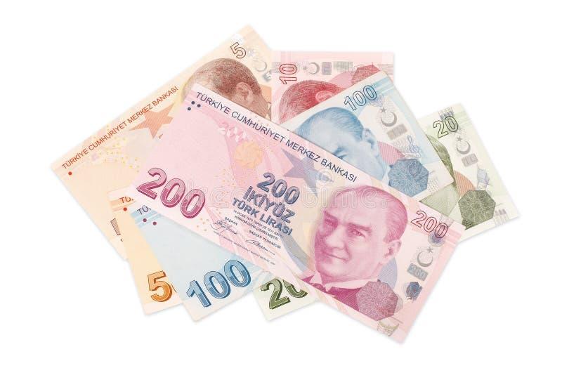 Turecka waluta - ścinek ścieżka zdjęcie royalty free