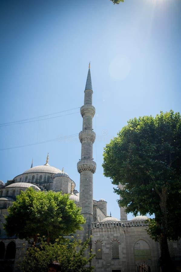 Turecki Błękitny meczet w Istanbuł zdjęcia stock