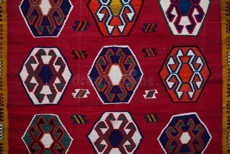 Turecki dywanika lub dywanu dekoraci wzór fotografia stock