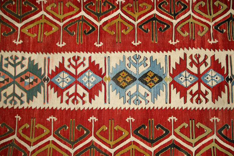 Turecki dywanu wzór zdjęcia royalty free