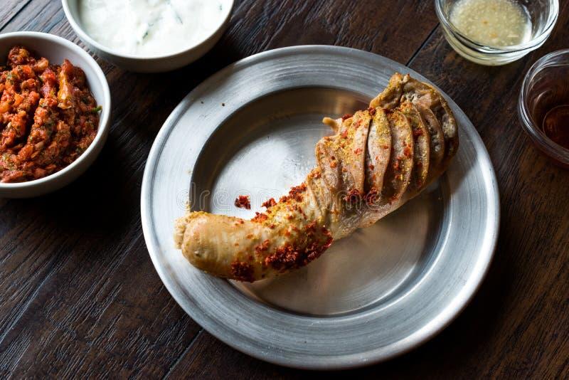 Turecki Karmowy Rice Faszerował flaczki Sirdan Dolma, Shirdan od Adana odpadka jedzenia/ zdjęcie royalty free