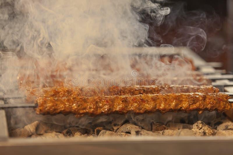 Turecki kebabu grill obrazy stock