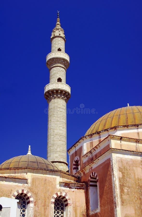 Turecki meczet z minaretem zdjęcia stock