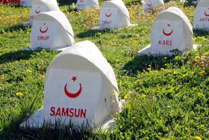 Turecki Militarny cmentarz zdjęcia stock