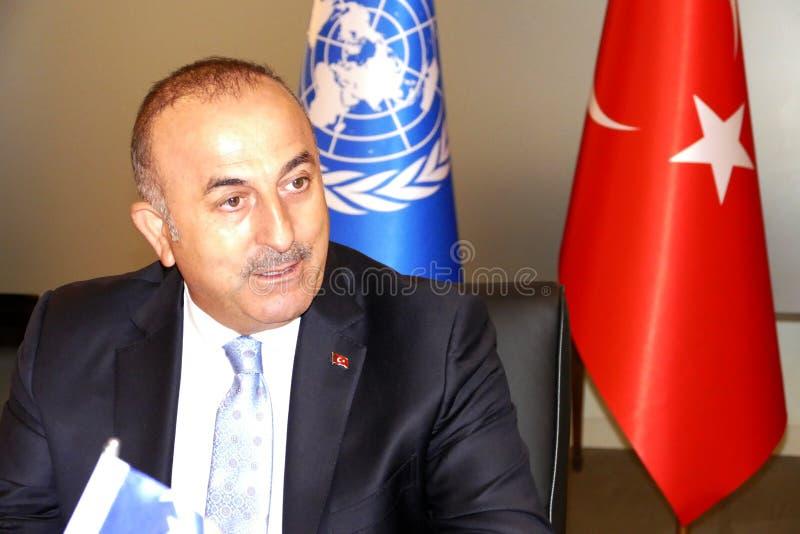Turecki minister spraw zagranicznych Mevlut Cavusoglu zdjęcie stock