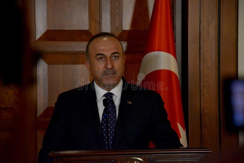 Turecki minister spraw zagranicznych Mevlut Cavusoglu obrazy royalty free