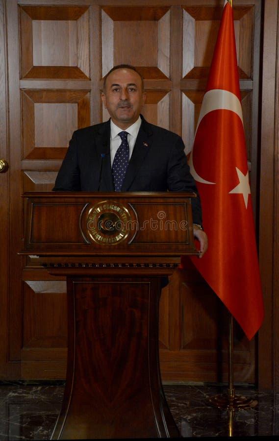 Turecki minister spraw zagranicznych Mevlut Cavusoglu zdjęcia stock