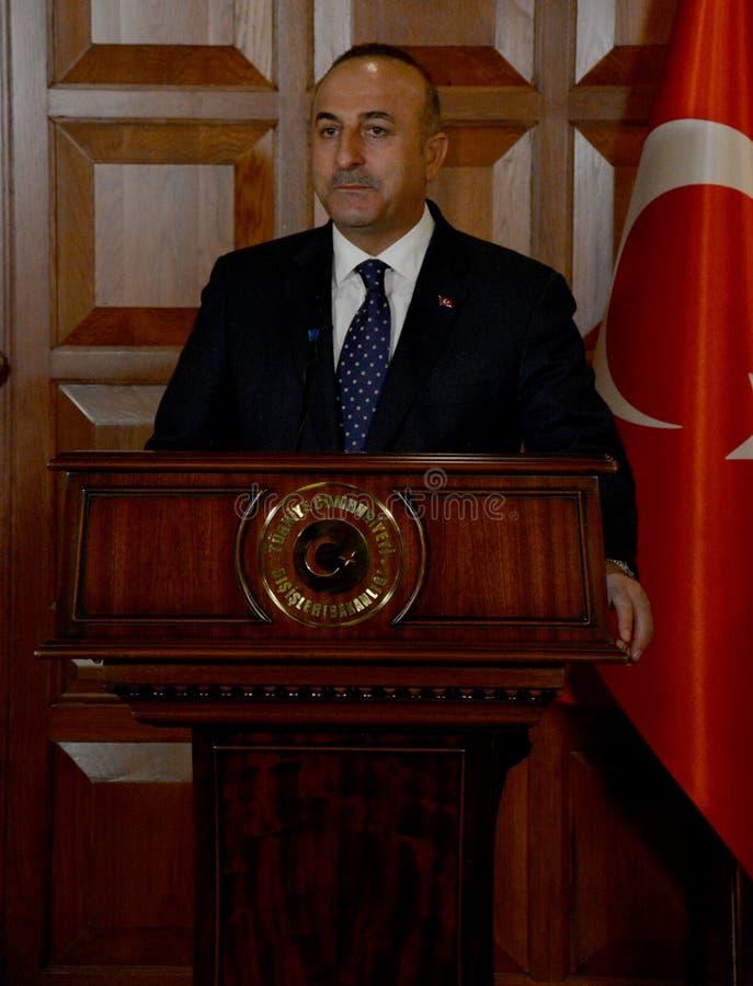 Turecki minister spraw zagranicznych Mevlut Cavusoglu obrazy stock