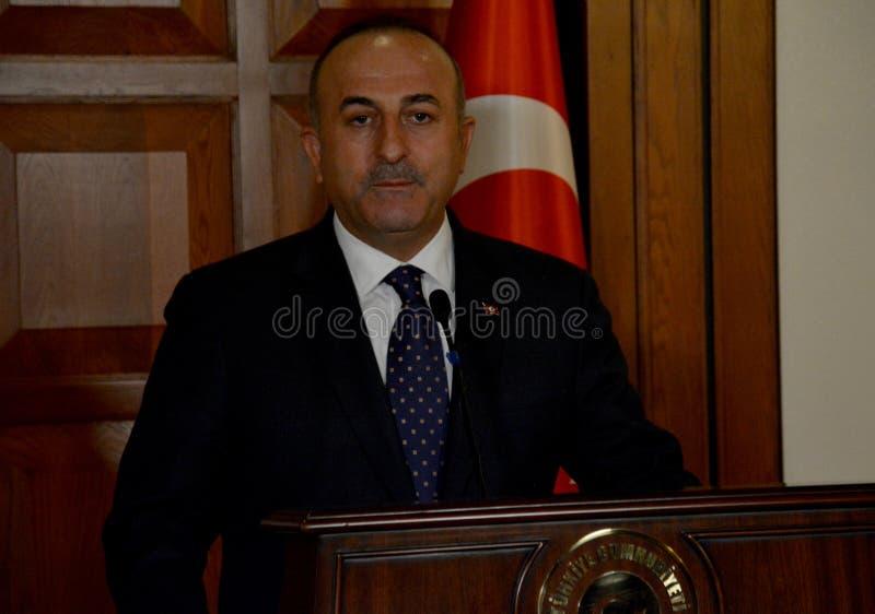 Turecki minister spraw zagranicznych Mevlut Cavusoglu obraz stock