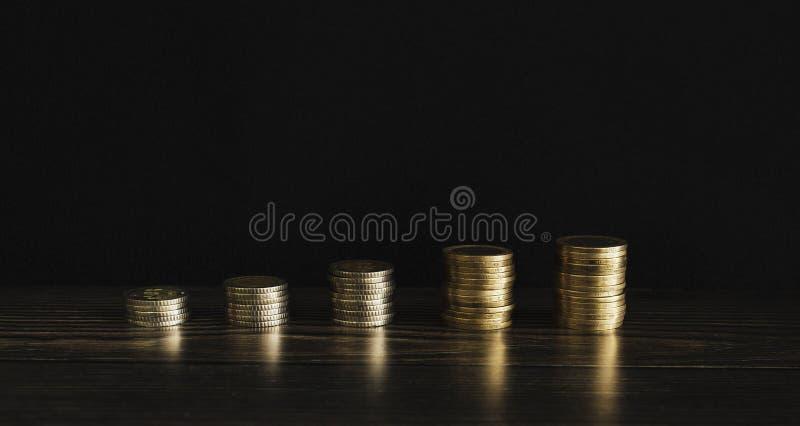 Turecki pieniądze papier, monety I Zaopatrujemy fotografię zdjęcie stock