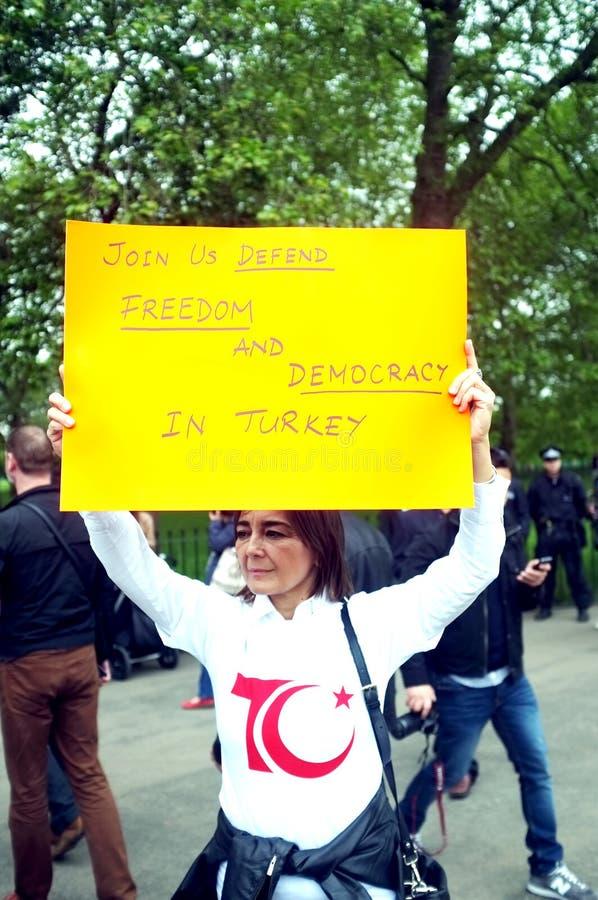 Turecki protestujący fotografia royalty free