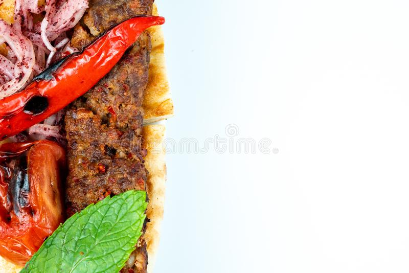 Turecki shish Adana kebab obrazy royalty free