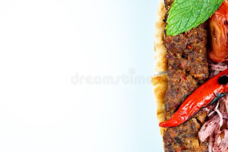 Turecki shish Adana kebab zdjęcia royalty free