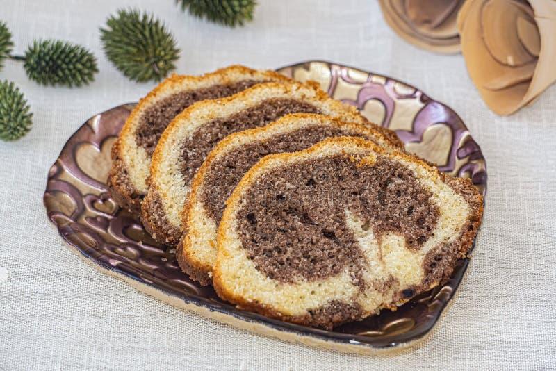 Turecki smaku tort na pucharze zdjęcia royalty free