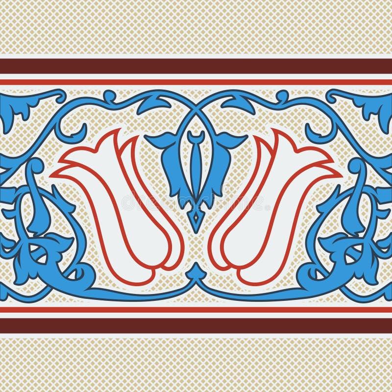 Turecki tulipanu wzór royalty ilustracja