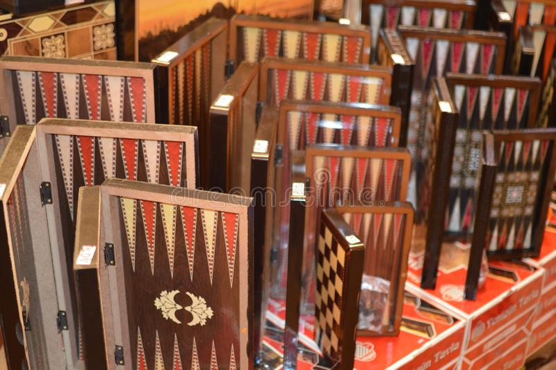 Tureckie trik-trak deski dla sprzeda?y obraz royalty free