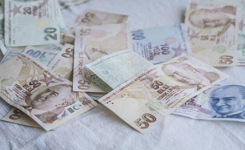 Tureckiego lira banknoty zdjęcia royalty free